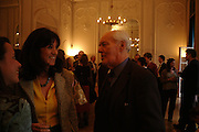 Gail Rebuck and Tony Benn.  80th birthday celebration for Tony Benn given by his publisher, Hutchinson. Foreign Press Association. 5 April 2005. ONE TIME USE ONLY - DO NOT ARCHIVE  © Copyright Photograph by Dafydd Jones 66 Stockwell Park Rd. London SW9 0DA Tel 020 7733 0108 www.dafjones.com