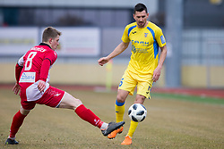 Andraz Kirm of NK Domzale during football match between NK Domzale and NK Aluminij in Round #24 of Prva liga Telekom Slovenije 2017/18, on March 18, 2018 in Sports park Domzale, Domzale, Slovenia. Photo by Urban Urbanc / Sportida