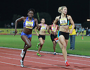 PRETORIA, SOUTH AFRICA, Friday 20 April 2012, Globine Mayova of Namibia (113) and Sonia van der Merwe in the women's 200m during the Yellow Pages Series 3 held at the Absa Tuks stadium..Photo by Roger Sedres/ImageSA/ASA