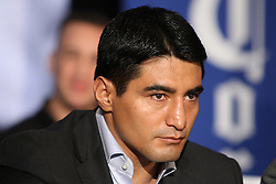 Aug 30, 2012; Brooklyn, NY, USA; Erik Morales at the press conference at New York Marriott at the Brooklyn Bridge. The press conference announced the upcoming October 20th card at the Barclay's Center.