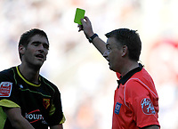 Photo: Steve Bond/Richard Lane Photography. Reading v Watford. Coca Cola Championship. 26/09/2009. Danny Graham is booked be ref M Haywood for celebrating in the crowd