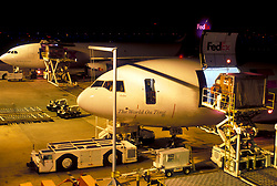 Loading Federal Express Airplanes at George Bush Intercontinental Airport