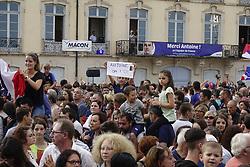 July 20, 2018 - Macon, France - LES SUPPORTERS POUR ANTOINE GRIEZMANN  A MACON .APRES SON TITRE DE CHAMPION DU MONDE (Credit Image: © Panoramic via ZUMA Press)