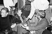 Robert Mapplethope; Susan Sarandon; Dominic Dunne, Robert Mapplethope birthday party. 23 St. Manhattan. 1988