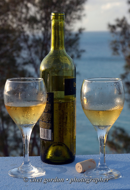 Two glasses of Chardonnay at a private residence in Bailey's Bay, Bermuda on Monday, October 4, 2010.
