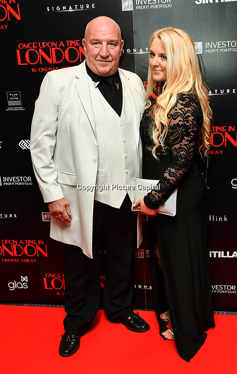 Dave Courtney Arrivers at Once Upon a Time in London - London premiere of the rise and fall of a nationwide criminal empire that paved the way for notorious London gangsters the Kray Twins and the Richardsons at The Troxy 490 Commercial Road, on 15 April 2019, London, UK.