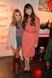 Left to right, ZOE HARDMAN and LILAH PARSONS at the Cointreau launch for Yumi by Lilah Parsons SS/16 collection held at 15 Bateman Street, London on 1st December 2015