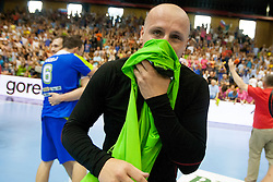 Gorazd Skof of Slovenia after handball match between National teams of Slovenia and Hungary in play off of 2015 Men's World Championship Qualifications on June 15, 2014 in Rdeca dvorana, Velenje, Slovenia. Photo by Urban Urbanc / Sportida