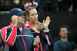 November 10, 2018 - Prague, Czech Republic - Danielle Collins of the United States during the 2018 Fed Cup Final between the Czech Republic and the United States of America in Prague in the Czech Republic. (Credit Image: © Slavek Ruta/ZUMA Wire)