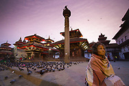 5.30am in Khatmandu Durbar Square, Nepal.