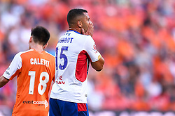 October 22, 2017 - Brisbane, QUEENSLAND, AUSTRALIA - Andrew Nabbout of the Jets (#15) reacts to a failed attempt on goal during the round three Hyundai A-League match between the Brisbane Roar and the Newcastle Jets at Suncorp Stadium on October 22, 2017 in Brisbane, Australia. (Credit Image: © Albert Perez via ZUMA Wire)