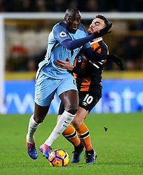 Yaya Toure of Manchester City takes on Robert Snodgrass of Hull City  - Mandatory by-line: Matt McNulty/JMP - 26/12/2016 - FOOTBALL - KC Stadium - Hull, England - Hull City v Manchester City - Premier League
