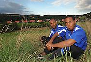 08-08-2008 VOETBAL:IBAD MUHAMADU:BOY DEUL<br /> Willem II spits Ibad Muhamadu en Boy Deul<br /> Foto: Geert van Erven