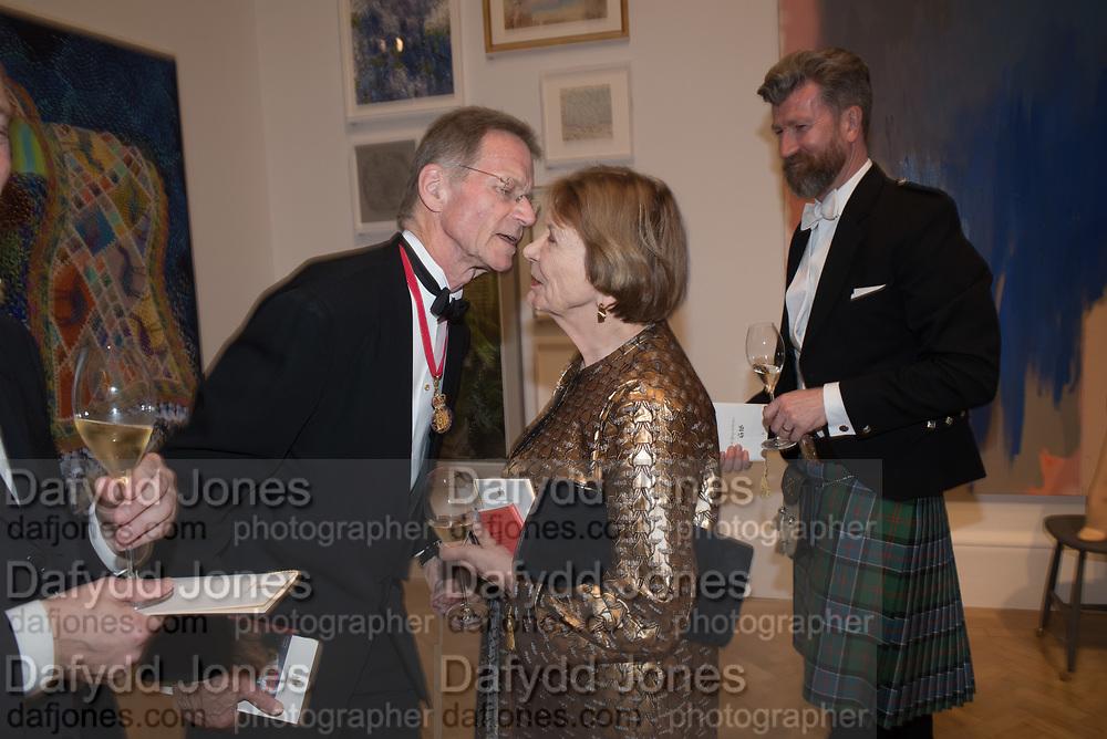 SIR NICHOLAS SEROTA, JOAN BAKEWELL, GARY WATERSTON, 2019 Royal Academy Annual dinner, Piccadilly, London.  3 June 2019