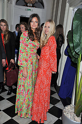 Left to right, LADY NATASHA RUFUS ISAACS and ASTRID HARBORD at a reception hosted by Beulah London and the United Nations to launch Beulah London's AW'11 Collection 'Clothed in Love' and the Beulah Blue Heart Campaign held at Dorsia, 3 Cromwell Road, London SW7 on 18th October 2011.