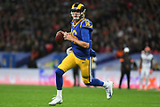 LA Rams Quarterback Jared Goff (16)  runs the ball during the International Series match between Los Angeles Rams and Cincinnati Bengals at Wembley Stadium, London, England on 27 October 2019.