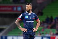 MELBOURNE, AUSTRALIA - APRIL 06: Quade Cooper of the Rebels looks on at round 8 of The Super Rugby match between Melbourne Rebels and Sunwolves on April 06, 2019 at AAMI Park in VIC, Australia. (Photo by Speed Media/Icon Sportswire)