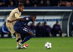 06.11.2012, Stade de Parc des Princes, Paris, FRA, UEFA CL, Paris St. Germain vs Dinamo Zagreb, Gruppe A, im Bild Sammir, Blaise Matuidi, // during UEFA Championsleague group A Match between Paris St. Germain and Dinamo Zagreb at the Stade de Parc des Princes, Paris, France on 2012/11/06. EXPA Pictures © 2012, PhotoCredit: EXPA/ Pixsell/ Marko Lukunic..***** ATTENTION - OUT OF CRO, SRB, MAZ, BIH and POL *****