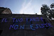 "54th Biennale of Venice..ILLUMInazioni - ILLUMInations.Iceland exhibition at Palazzo Zenobio..Libia Castro and Olafur Olafsson. ""Under Deconstruction"", 2011..""Il tuo paese non esiste (your country doesn't exist)"".."