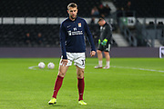Northampton Town striker Andy Williams warming up before The FA Cup match between Derby County and Northampton Town at the Pride Park, Derby, England on 4 February 2020.