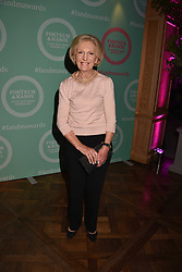 Mary Berry at the 2017 Fortnum & Mason Food & Drink Awards held at Fortnum & Mason, Piccadilly London England. 11 May 2017.<br /> Photo by Dominic O'Neill/SilverHub 0203 174 1069 sales@silverhubmedia.com