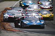 August 5 2018: IMSA Weathertech Continental Tire Road Race Showcase. 67 Ford Chip Ganassi Racing, Ford GT, Ryan Briscoe, Richard Westbrook