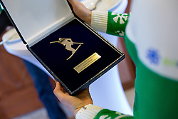 Award for Vesna Fabjan during Media day of Ski Association of Slovenia before new winter season 2014/15 on October 20, 2014 in Hisa Kulinarike Jezersek, Sora, Slovenia. (Photo by Matic Klansek Velej / Sportida)