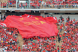 BANGKOK, THAILAND - Sunday, July 28, 2013: A giant Liverpool shirt during a preseason friendly match against Thailand XI at the Rajamangala National Stadium. (Pic by David Rawcliffe/Propaganda)