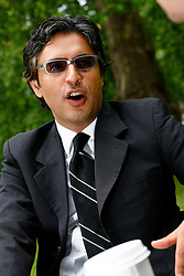 UK ENGLAND LONDON 3JUN09 - Reza Aslan, a scholar of religions and a writer, speaks during an interview in Russell Square, central London. Aslan is the author of two books on the subject of Islam: 'No God But God' and 'How to Win a Cosmic War'. He is a member of the Council on Foreign Relations, the Los Angeles Institute for the Humanities, and the Pacific Council on International Policy. He serves on the board of directors for both the Ploughshares Fund, which gives grants for peace and security issues, Abraham's Vision, an interfaith peace organization, and PEN USA...jre/Photo by Jiri Rezac..© Jiri Rezac 2009