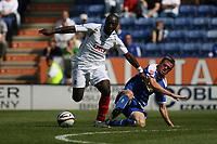 Photo: Pete Lorence.<br />Leicester City v Portsmouth. Pre Season Friendly. 04/08/2007.<br />Richard Stearman slides in on Lomana Lualua.