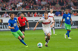September 16, 2017 - Stuttgart, Germany - Stuttgarts Santiago Ascacibar initiates a counter / Bundesliga match VfB Stuttgart vs VfL Wolfsburg, September 16, 2017. (Credit Image: © Bartek Langer/NurPhoto via ZUMA Press)