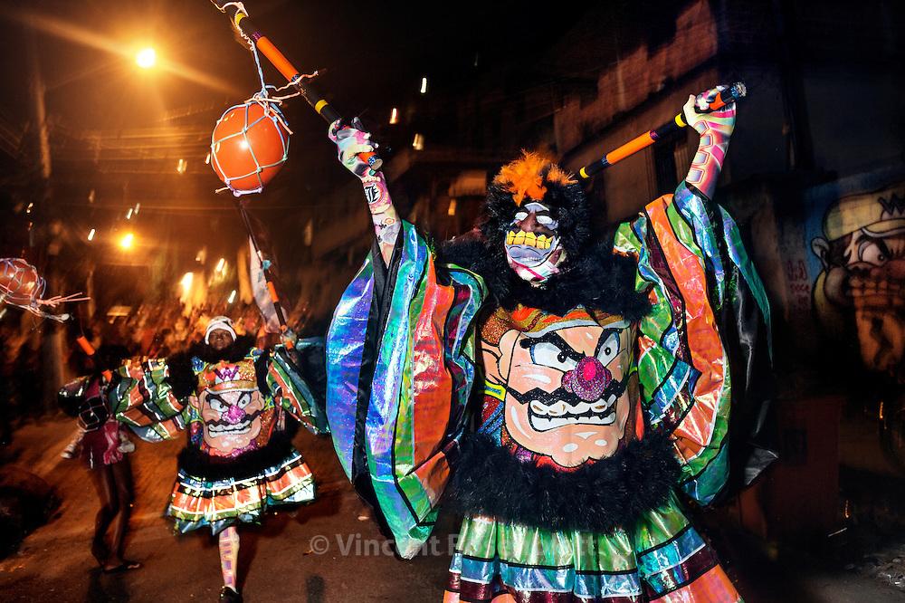 Parade of the Bolação gang from the favela Congonha in Madureira district, zona norte of Rio de Janeiro.