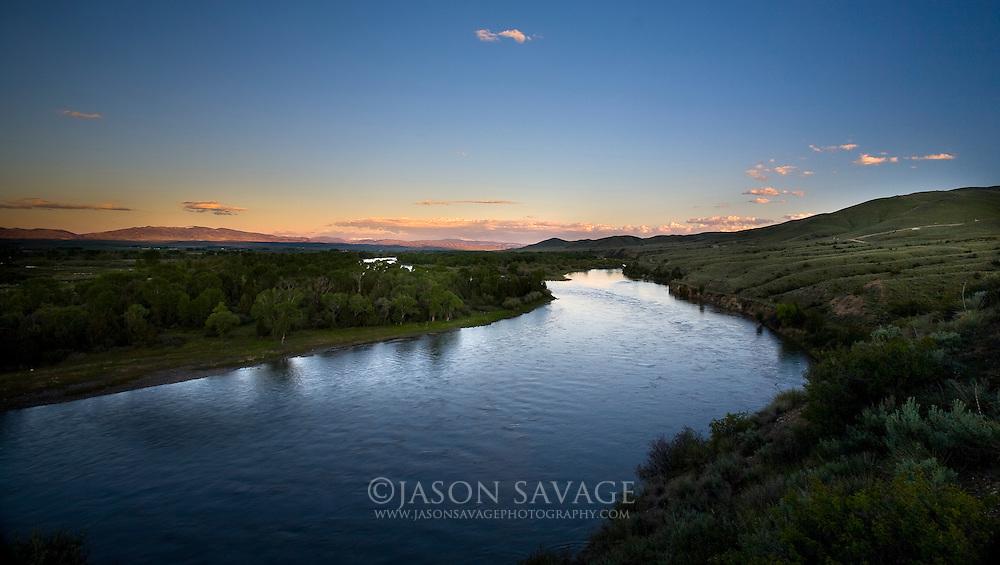 Crimson Bluffs overlooking the Missouri River near Townsend Montana.