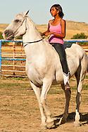 Crow Fair, Rodeo, Crow Indian Reservation, Teenage girl, Montana