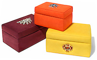 fabric jewel encrusted jewelry boxes