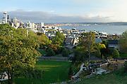 Kerry Park, Space Needle, Elliot Bay, Skyline, Sunrise, Sunset, Capitol Hill, Queen Anne, Seattle Hotels, Seattle, Washington