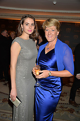 Left to right, GENEVIEVE GAUNT and CLARE BALDING at the 26th Cartier Racing Awards held at The Dorchester, Park Lane, London on 8th November 2016.