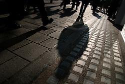 UK ENGLAND LONDON 30MAR04 - Shadows on the pavement. Daily life on Oxford Street, central London's busiest street.<br /> <br /> <br /> <br /> jre/Photo by Jiri Rezac<br /> <br /> <br /> <br /> © Jiri Rezac 2004<br /> <br /> <br /> <br /> Contact: +44 (0) 7050 110 417<br /> <br /> Mobile:  +44 (0) 7801 337 683<br /> <br /> Office:  +44 (0) 20 8968 9635<br /> <br /> <br /> <br /> Email:   jiri@jirirezac.com<br /> <br /> Web:     www.jirirezac.com
