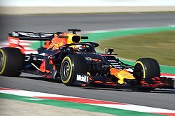 February 18, 2019 - Barcelona, Spain - Dutch driver Max Verstappen of Austrian Anglo team Aston Martin Red Bull Racing driving his single-seater RB15 during Barcelona winter test in Catalunya Circuit in Montmel?, Spain  (Credit Image: © Andrea Diodato/NurPhoto via ZUMA Press)