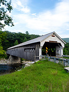 Image of the famous West Dummerston Covered Bridge, near Brattleboro, Vermont, USA.