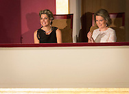 Brussels, 25-05-2016 <br /> <br /> Queen Mathilde and Queen Maxima attend one of the finals of the Queen Elisabeth piano competition at the Palace of Beautiful Arts Kunsten in Brussels.<br /> <br /> COPYRIGHT:ROYALPORTRAITS EUROPE/BERNARD RUEBSAMEN
