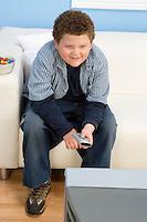 Boy Watching TV