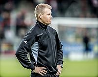 FODBOLD: Fysisk træner Tobias Willerslev Jørgensen (FC Helsingør) under opvarmningen til kampen i ALKA Superligaen mellem AaB og FC Helsingør den 15. oktober 2017 på Aalborg Stadion. Foto: Claus Birch