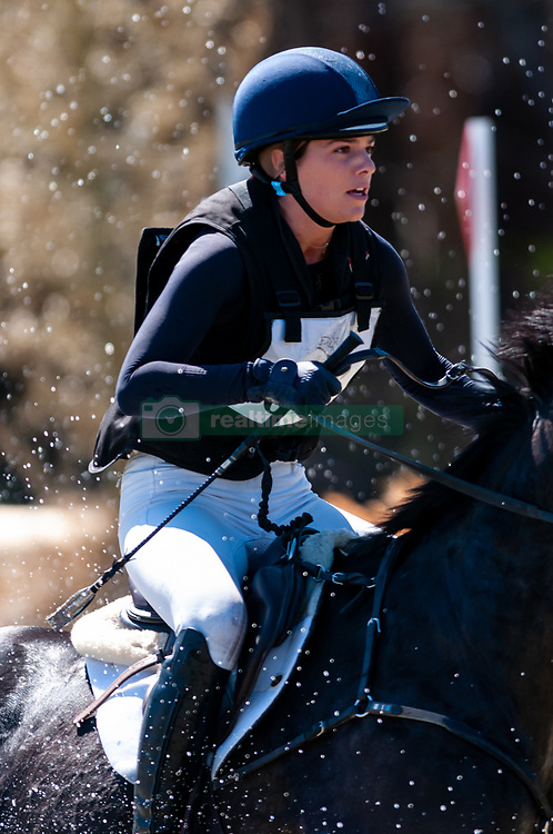 March 22, 2019 - Raeford, North Carolina, US - March 23, 2019 - Raeford, N.C., USA - HALLIE COON of the United States riding CELIEN competes in the cross country CCI-4S division at the sixth annual Cloud 11-Gavilan North LLC Carolina International CCI and Horse Trial, at Carolina Horse Park. The Carolina International CCI and Horse Trial is one of North AmericaÃ•s premier eventing competitions for national and international eventing combinations, hosting International competition at the CCI2*-S through CCI4*-S levels and National levels of Training through Advanced. (Credit Image: © Timothy L. Hale/ZUMA Wire)