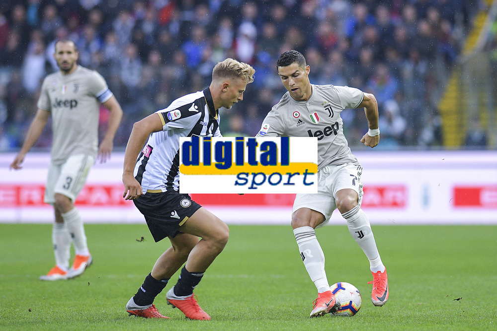 Cristiano Ronaldo, Antonin Barak<br /> Udine 06-10-2018 Stadio Friuli Football Calcio Serie A 2018/2019 Udinese - Juventus<br /> Foto Federico Tardito / OnePlusNine / Insidefoto
