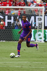 July 22, 2018 - Charlotte, NC, U.S. - CHARLOTTE, NC - JULY 22: Joel Matip (32) of Liverpool with the ball during the International Champions Cup soccer match between Liverpool FC and Borussia Dortmund in Charlotte, N.C. on July 22, 2018. (Photo by John Byrum/Icon Sportswire) (Credit Image: © John Byrum/Icon SMI via ZUMA Press)