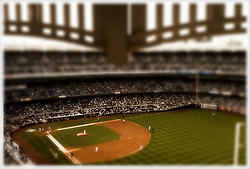 Scene from the last row at the new Yankee Stadium in Bronx, NY.