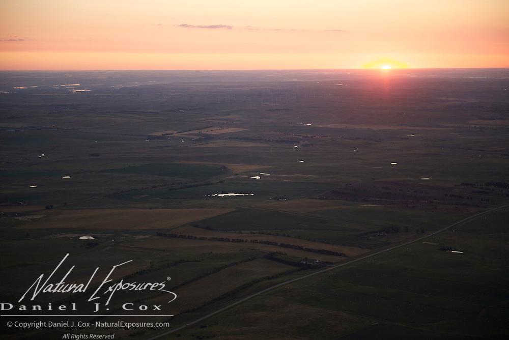 Sunrise over the plains of North Dakota.