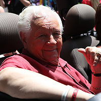 Boxing promoter Don Chargin is seen in the parade of champions during the 2013 International Boxing Hall of Fame induction ceremony  on Sunday, June 9, 2013 in Canastota, New York.  (AP Photo/Alex Menendez)