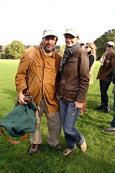 The HON.DAVID MACMILLAN and SAFFRON ALDRIDGE at the Finch & Partners Clay Pigeon Shoot in aid of Battersea Dogs Home at the Holland & Holland Shooting Ground, Ruislip, Middlesex on 17th October 2007.<br />